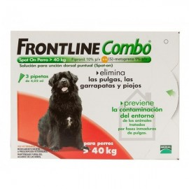 Frontline spot on combo perros +40 kg 3 pipetas