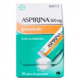 ASPIRINA 500 MG 10 SOBRES
