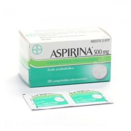 ASPIRINA 500 MG 20 COMP EFERV