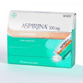 ASPIRINA 500 MG GDO 20 SOBRES