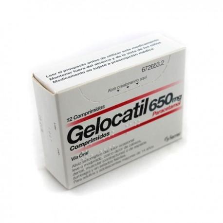 GELOCATIL 650 MG 12 COMP