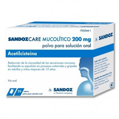 SANDOCARE MUCOLITICO 200 MG 20 SOBRES
