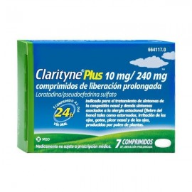 CLARITYNE PLUS 10/240 MG 7 COMP