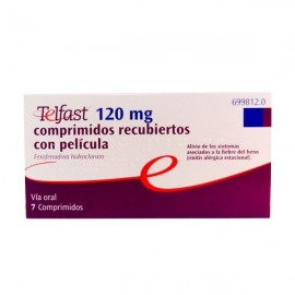 TELFAST 120 MG 7 COMP