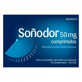 SOÑODOR 50 MG 10 COMP