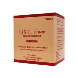 REGAXIDIL 20 MG/ML SOL CUTANEA 4X60 ML