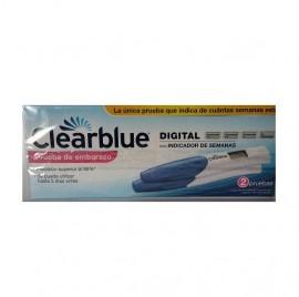Clearblue Digital Prueba Embarazo con Indicador Concepción 2 ud