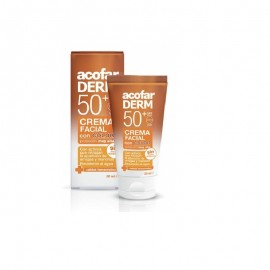 Acofarderm  Crema Facial Color Fotoprotector SPF50+ Antiarrugas y antimanchas