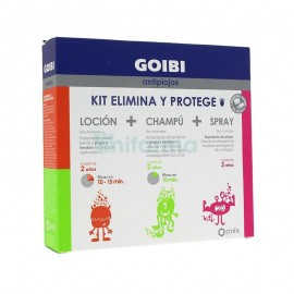 Goibi antipiojos kit elimina y protege: loción 125ml + champú 125ml + spray 125ml