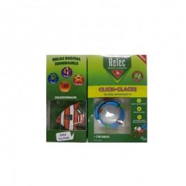 Relec pulsera antimosquitos click-clack pez