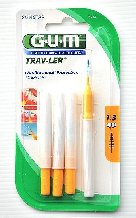 Gum 1514 cepillo cónico interdental proxabrush viaje