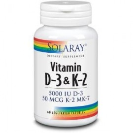 Solaray vitamina d3 y k2 (mk7) 60 capsulas