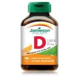 Vitamina D3  comprimidos masticables 100 C. JAMIESON