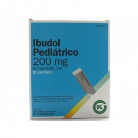 ibudol pediatrico 200mg 20 sobres