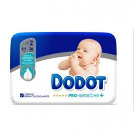 Pañal dodot pro sensitive T 2 de 4 a 8 kg 36