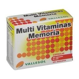 Vallesol Multi Vitaminas Memoria 40 capsulas