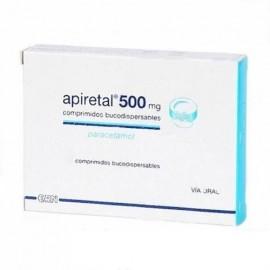 Apiretal comprimidos bucodispersables 500 mg 24 comprimidos