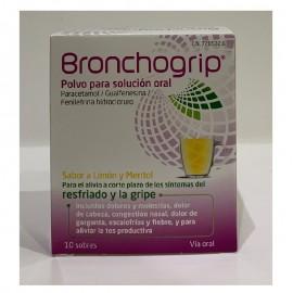 bronchogrip sobres para la gripe y el resfriado