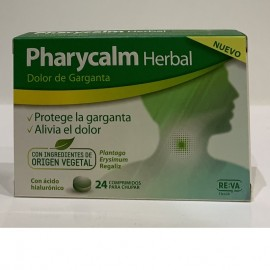 pharycalm herbal pastillas para el picor de garganta
