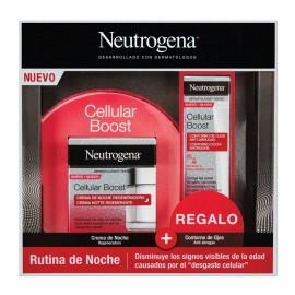Neutrogena Cellular Boost Anti-edad: Pack Crema de Noche Regeneradora + Contorno de Ojos