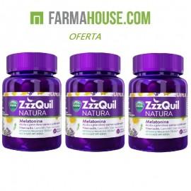 zzzquil NATURA 90 gominolas pack 3 envases 30 unidades