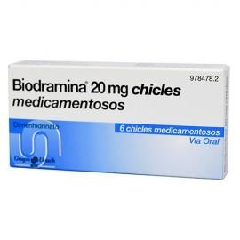 BIODRAMINA CHICLE X6