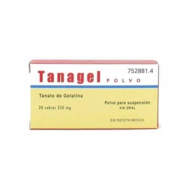 TANAGEL 250 mg 20 PAPELES