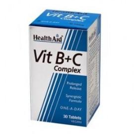 HealthAid COMPLEJO B+C (full vit.B+C comp) 30comp.
