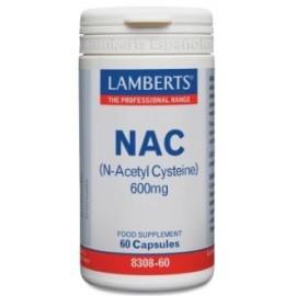 LAMBERTS NAC (N Acetil Cisteina) 600mg. 60cap.