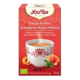 YOGI TEA ENERGIA POSITIVA arandano hibisco de YOGI TEA, 17inf.