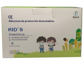 Mascarillas 3 capas Infantiles Desechables Surtidas CAJA 50 UNIDADES