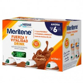 MERITENE BATIDO SABOR CHOCOLATE 6X125ML