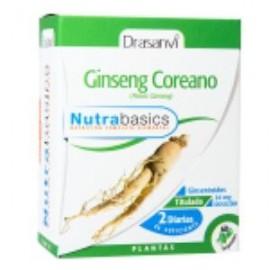NUTRABASICS GINSENG COREANO de DRASANVI, 60caps.