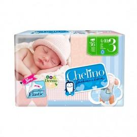 PAÑAL CHELINO INFANTIL T.3 4-10KG 36 UNI