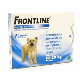 FRONTLINE SPOT ON PERROS  10-20 KG 3 PIPETAS