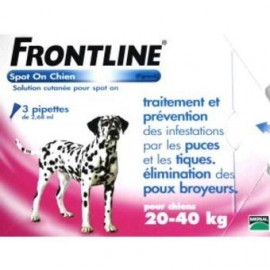 Frontline spot on perros 20-40 kg 3 pipetas