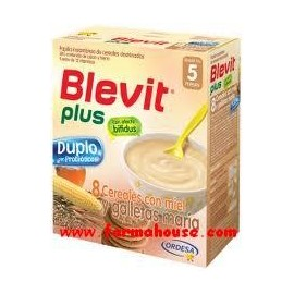 PLUS BLEVIT DUPLO 8 CEREALS HONEY AND MARIA COOKIES 600g