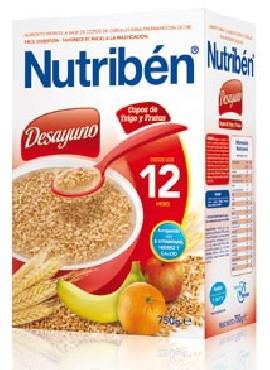 NUTRIBEN DESAYUNO COPOS TRIGO Y FRUTA 750 GR