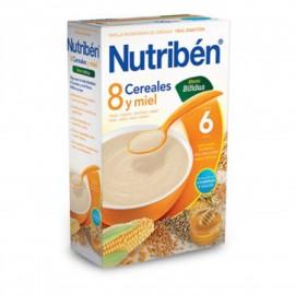 PAPILLA NUTRIBEN 8 CEREALES CON MIEL EFECTO BIFIDUS 600 g