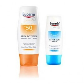 Pack Locion Eucerin solar ex light F+50, + aftersun