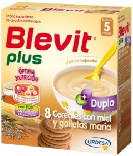 PLUS BLEVIT DUPLO 8 CEREALS AND COOKIES MARY 600 GR