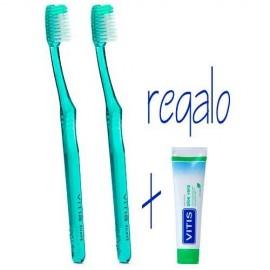 Duplo Vitis Cepillo Dental Suave, 2Ud + Regalo Pasta Vitis, 15ml