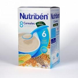 Nutriben Papilla 8 Cereales Efecto Bifidus, 600 gr