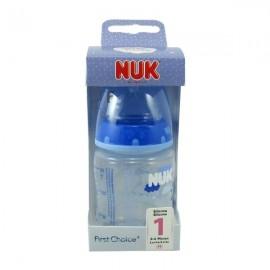 Nuk Biberon BA Latex 0-6 meses, 150 ml Azul