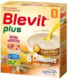 Blevit Plus Gama Superfibra 8 Cereales con miel 600 gr