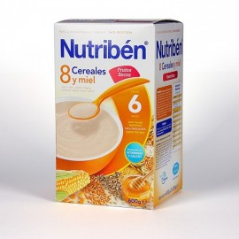 Nutribén 8 cereales con miel y frutos secos, 600 gr
