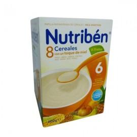 Nutribén 8 cereales con miel y 4 frutas, 600 gr