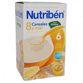 Nutribén Papilla 8 cereales miel efecto bifidus 300 gr