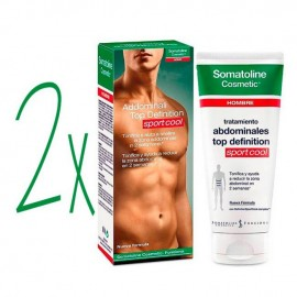 Somatoline Cosmetics DUPLO Hombre Abdominales Top Definition, 200+200ml