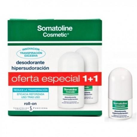 Somatoline DUPLO Desodorante Hipersudoración Roll-On, 30+30ml